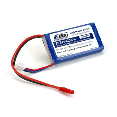 E-flite 430mAh 2S 7.4V 20C LiPo 20AWG JST Battery for sale  Delivered anywhere in USA