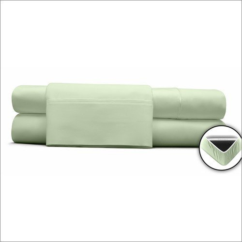 DreamFit 3-Degree 300 Thread Count Select World Class Cotton Sheet Set, Queen, Celadon