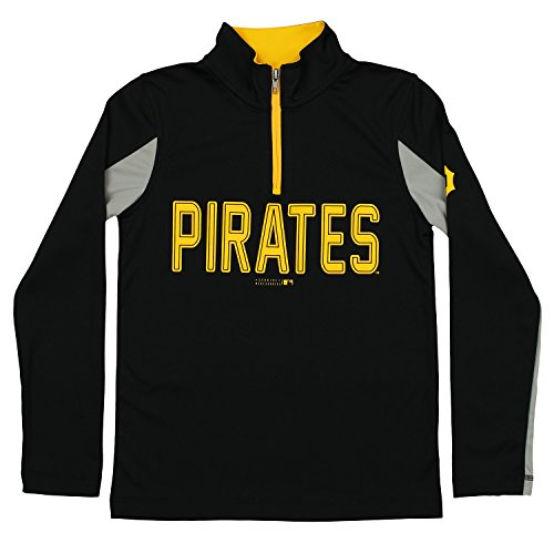 - Outerstuff MLB Youth Boys 1/4 Zip Performance Long Sleeve Top, Pittsburgh Pirates, Small