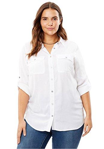 White Utility Shirt - 5