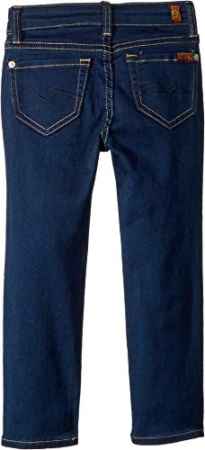 7 For All Mankind Kids Girl's Skinny Jeans in Rinsed Indigo (Little Kids) Rinsed Indigo 4 US Little Kid by 7 For All Mankind (Image #1)'
