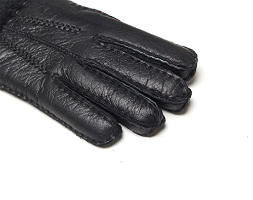 YISEVEN Women's Rugged Sheepskin Leather Shearling Winter Gloves made of Australian Lambskin (CYBER MONDAY SAVING!),black-8.5