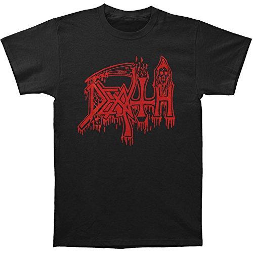 Death Men's Classic Logo Red On Black T-shirt Black