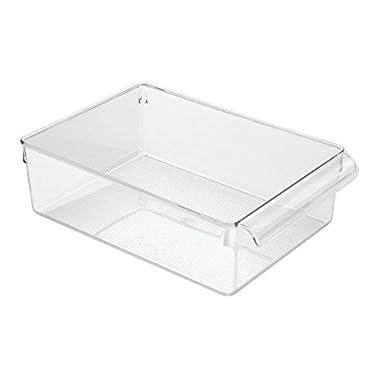 InterDesign Linus Pullz Kitchen Pantry Cabinet Bin Organizer, Clear