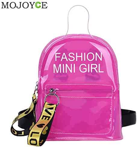 Transparent Female Backpack Clear PVC Lady Rucksack Teenager Girl School Bags Soft Plastic Women Casual Daypack