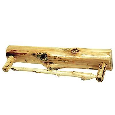 Cedar Towel Bar Solid Wood Construction Rustic Style Hand Made Log Cabin