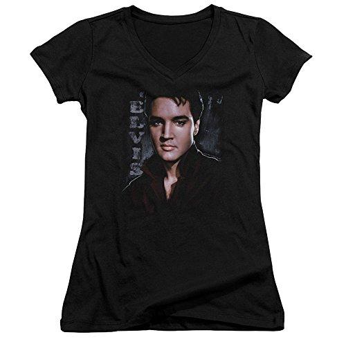 Elvis Presley - Tough - Crop Sleeve Fitted Junior V-Neck T-Shirt - Large