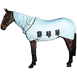 "Snuggy Hoods Bug Body Horse Fly Sheet-Insect & UV Summer Protection(54"", Haint Blue)"