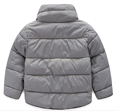 Button Collar Jacket Chic Down Coat Outwear Lemonkids Gray Infant Boys Stand Down npqzTXIz