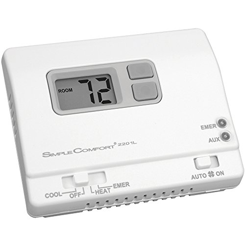ICM Controls SC2201L Simple Comfort Non-Programmable Thermostat with Backlit Display for Two-Stage Heat/Single-Stage Cool HP Only, Manual Changeover, Hardwired - Cool Programmable Thermostat
