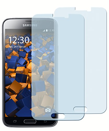2x mumbi ECO Panzerglas f. Samsung Galaxy S5 / S5 Neo Panzerfolie Glasfolie