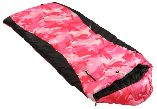 Ledge Sports Gunny Sack Girl's 0-Degree Sleeping Bag, Pink