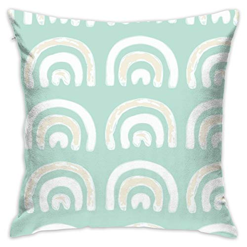 xiaolang Pillowcases (Jumbo Scale) Turquoise Rainbow_9619 Decorative Pillow Case Home Decor Pillowcase (18x18 Inches) Colourful
