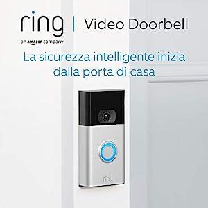Nuovo Ring Video Doorbell | Videocitofono con video in HD a 1080p, rilevazione avanzata del movimento e facile installazione (Seconda Generazione)