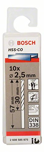 5 St/ück, /Ø 4,5 mm Bosch Professional Metallbohrer HSS-G geschliffen mit langer Arbeitsl/änge
