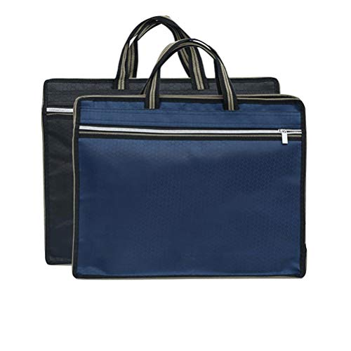 JULAN Document Bags with Handle Briefcase Business Trip Handbag File Folder for Office Meetings Travel