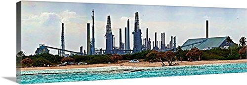 canvas-on-demand-premium-outdoor-canvas-wall-art-print-entitled-oil-refinery-at-the-coast-valero-oil
