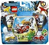 Game / Play Lego Chima Chi Battles 70113,Includes Longtooth And Wakz Minifigures With 4 Weapons. Toy / Child / Kid