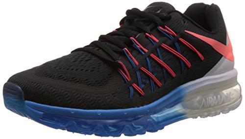Nike Air Max 2015 Mens Scarpa Da Corsa Nero / Lave-bianco-blu Foto Hot