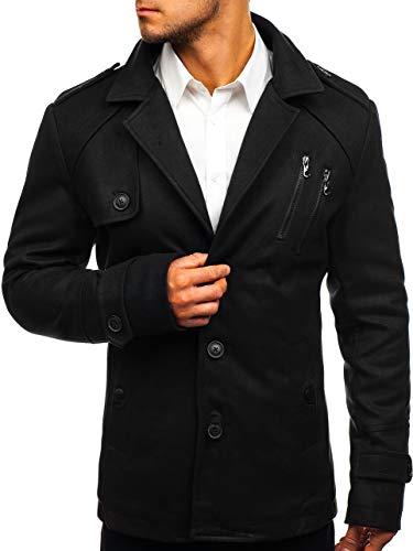 Bolf 3135 Invierno Mix Abrigo Negro De Hombre ppg4Zq