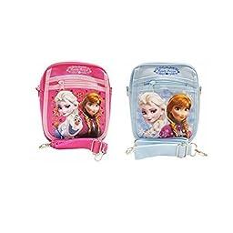 Disney Frozen Medium Shoulder Bag (Hot Pink and Light Blue Set)