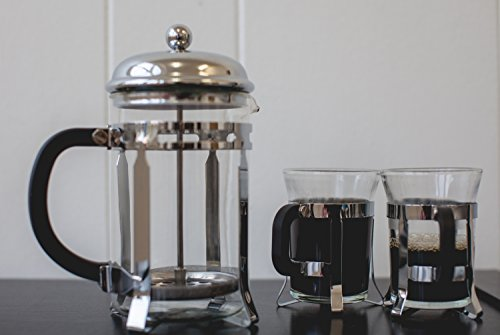 Design French Press Coffee Maker : MARGRA French Press Coffee & Tea Maker Set - Elegant Design - Dual Filter System- Upgraded Thick ...