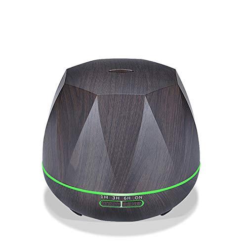 XINYILI Ultrasonic Wood Grain Aromatherapy Machine Humidifier 300ml Expansion Incense Purifying Colorful Lights,Black
