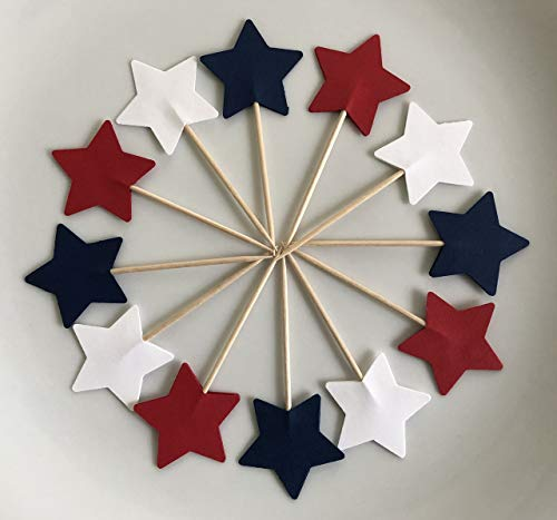 Red White & Blue Stars Double Sided Cupcake
