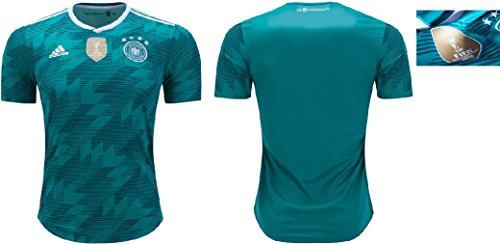 adidas Germany 2018-2019 Away Authentic Jersey- Teal Green L (Adidas Authentic Jersey)