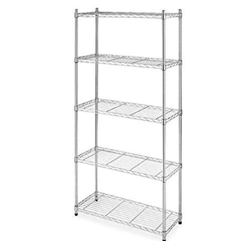 Best Chrome 5-Shelf Steel Wire Tier Layer Shelving 72