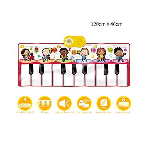 HXGL-Keyboard Children's Keyboard Playmat Piano Play Mat Kids Electronic Music Playmat Colorful Dance Mat-17 Keys (Color : Red) by HXGL-Keyboard (Image #3)