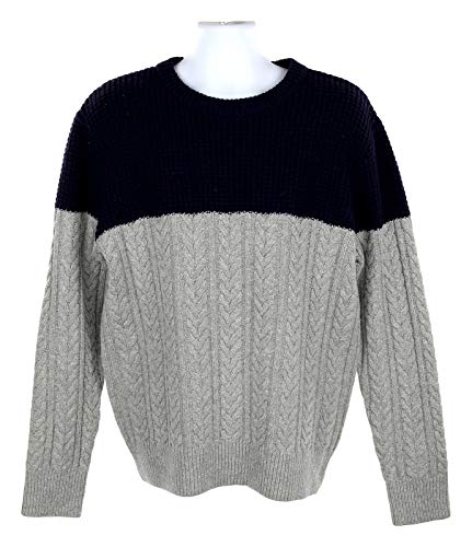 (J Crew Men's Rugged Merino Wool Mixed Knit Crewneck Sweater L J7717)