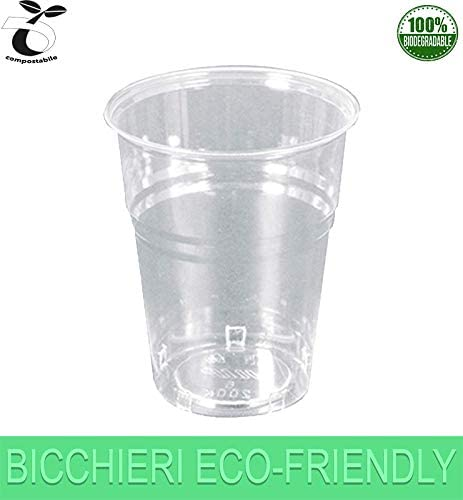 Palucart 300 Gafas Biodegradables 200 ml de Bebida desechable PLA ...
