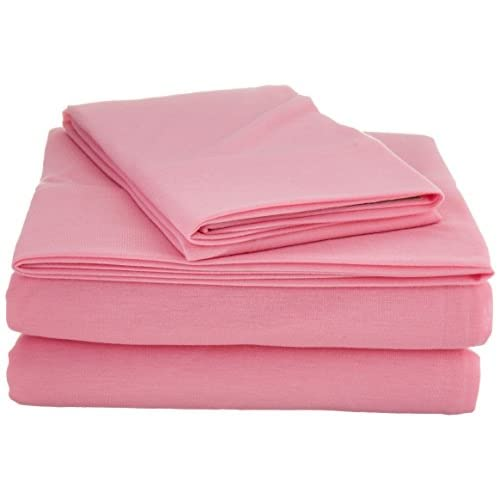 Discount Laura Hart Kids SS2399PKTX-4700 Jersey Sheet Set, Twin XL, Pink