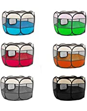 PaWz Pet Playpen Dog Play Pens Foldable 8 Panel Tent Cage Round Crate Portable