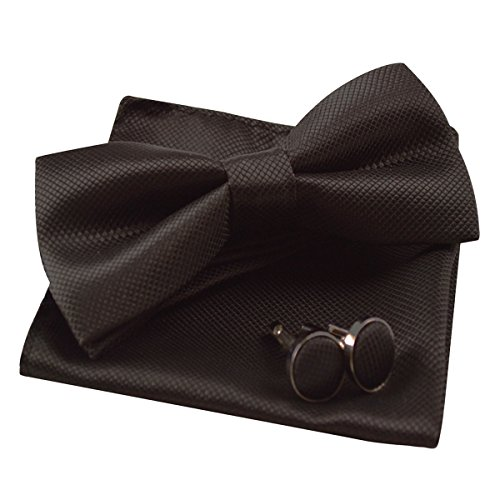 Mens Solid Formal Banded Pre-tied Bow Ties ()
