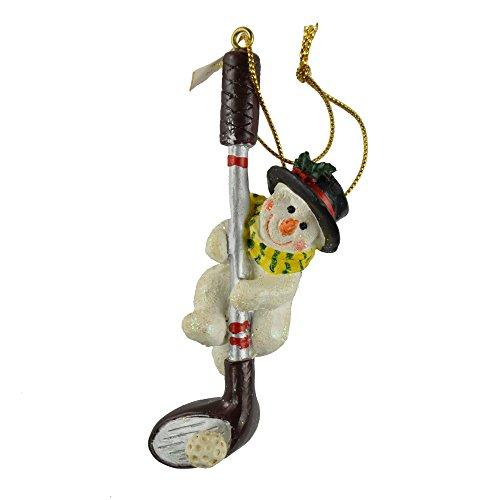 Golf Club Snowman Christmas Tree Ornament ()