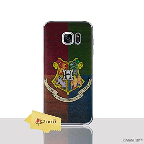 Casas de Harry Potter Funda/Cubierta del Teléfono para Samsung Galaxy S6 Edge (G925) con Protector de Pantalla / Silicona Suave de Gel/TPU / iCHOOSE / Hogwarts Hogwarts