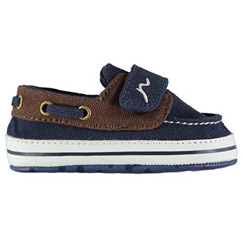 Kangol Kinder Bootsschuhe Klettverschluss Blau/Braun