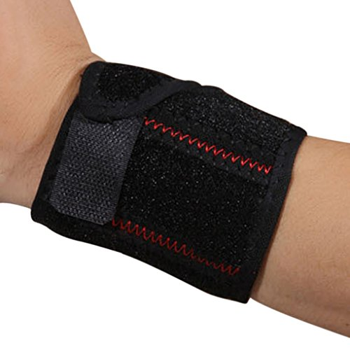 Wrist Support, Compression Strap and Support Brace Protection with Pressure for Men and Women Working out Wrist Pain Sprain Tendonitis, One Size Adjustable