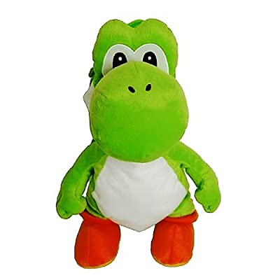 Super Mario Green Yoshi Plush Backpack Bag: Video Games