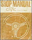 1973-1977 Honda Civic 1200 Repair Shop Manual Original