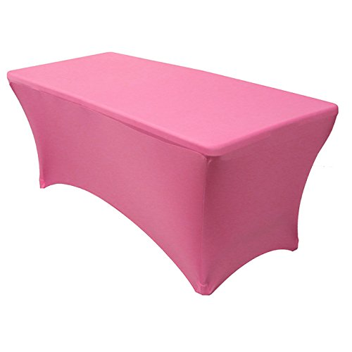 Pink Elegance Tablecloth (Your Chair Covers - Rectangular Fitted Stretch Spandex Table Cover, Fuchsia, 6' L)