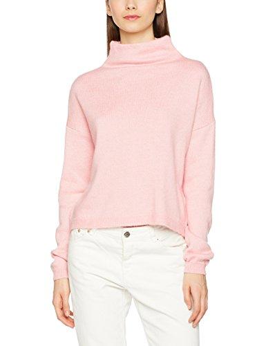 Maglione Look Donna Stand Neck bright New Rosa Pink Crop dqzwIxxA