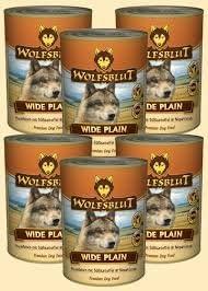 Wolf sangre–Wide Plain 6x 395g con Mind. 90% Carne de caballo