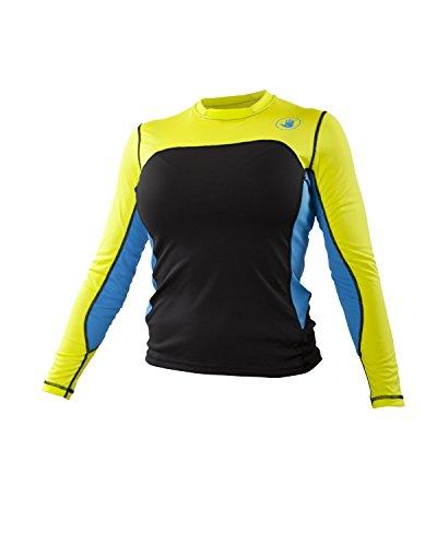 (Body Glove Women's Performance Loose Fit Long Sleeve Shirt, Viridian/Silver, Medium)