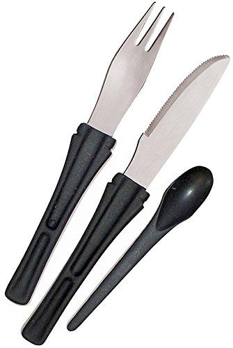 Boker Fork - Boker Plus 03BO800 Snac Pac Cutlery Set, Black