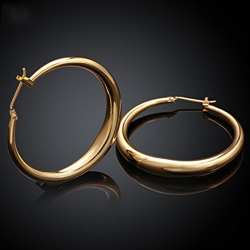 18K gold plating earrings Fashion High Quality zircon earrings - 1