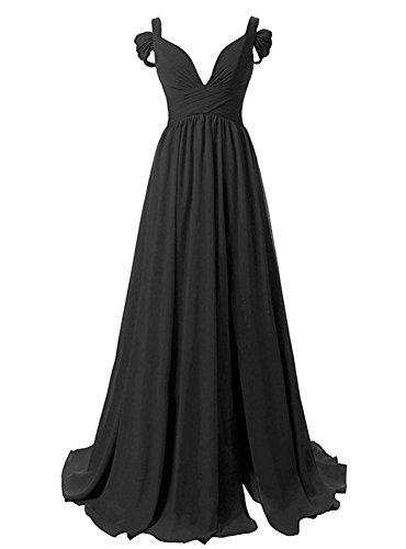Damen Lang A Split Black Mit Cocktail Line Brautjungfernkleider Abendkleider Bainjinbai Ballkleider dHqnZ7wd