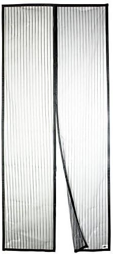 APALUS Cortina Mosquitera Para Puertas. Tejido Súper Fino Para Dejar Pasar El Aire.Cierre Magnético Automático Que Evita el Paso de Insectos. Fácil de ensamblar, negro, 92x212 cm.